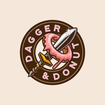 Dolk donut badge