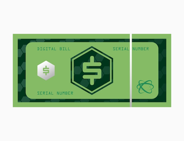 Dollar digitaal geld biljetbiljet