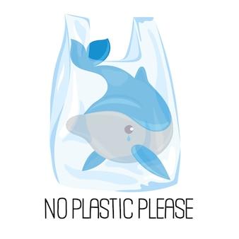 Dolphin plastic ecologisch probleem