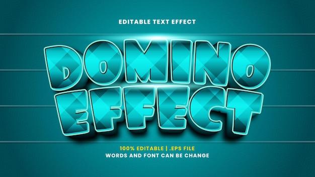 Domino-effect bewerkbaar teksteffect in moderne 3d-stijl