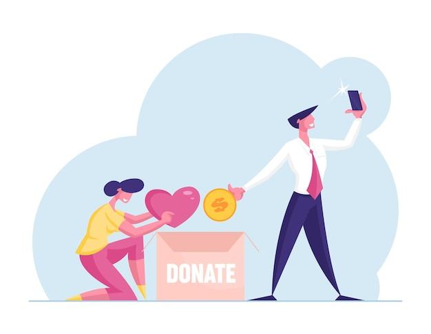 Donatie en altruïsme concept