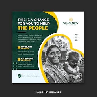 Donatie en fondsenwerving liefdadigheidspost op sociale media