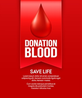 Doneer bloed posterontwerp.
