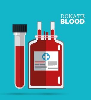 Doneer bloedzak en reageerbuis