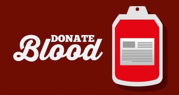 Doneer de plastic voorraad van bloedzakken
