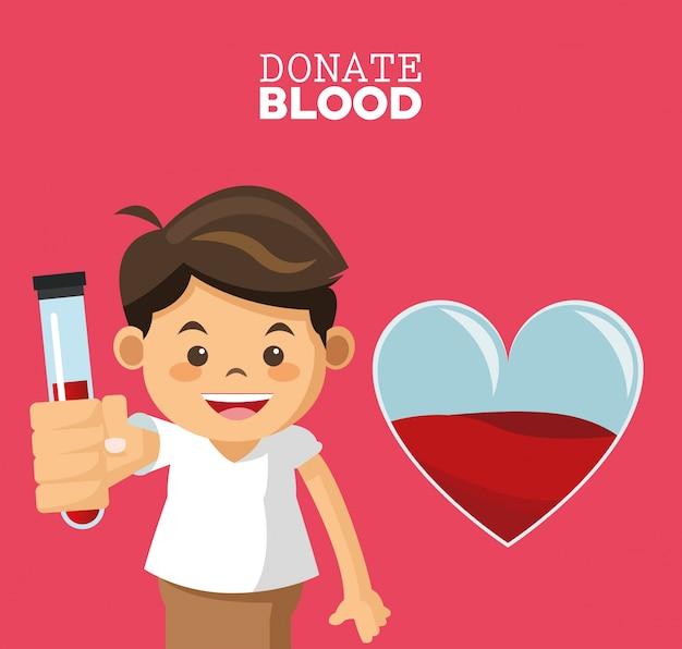 Doneer de reageerbuis van de bloedjongen