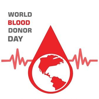 Doneren bloed ontwerp wereld bloeddonordag