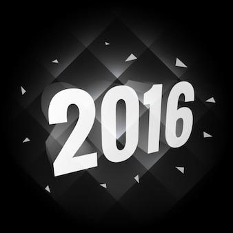Donker 2016 nieuwe jaarkaart