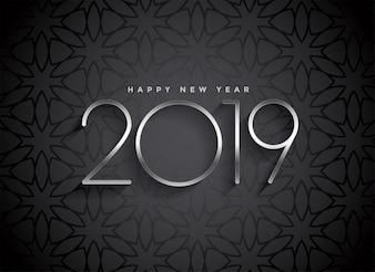 Donker 2019 elegant ontwerp als achtergrond