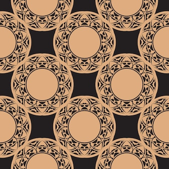 Donker bedauwd naadloos patroon met vintage ornamenten. achtergrond in een vintage stijlsjabloon. indiase bloemenelement. grafisch ornament voor behang, stof, verpakking.