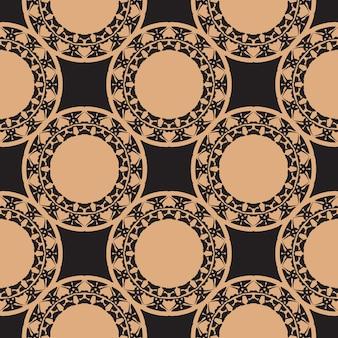 Donker bedauwd naadloos patroon met vintage ornamenten. achtergrond in een vintage stijlsjabloon. indiase bloemenelement. grafisch ornament voor behang, verpakking, verpakking.