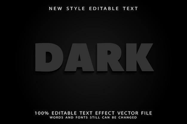 Donker bewerkbaar teksteffect in reliëf in moderne stijl