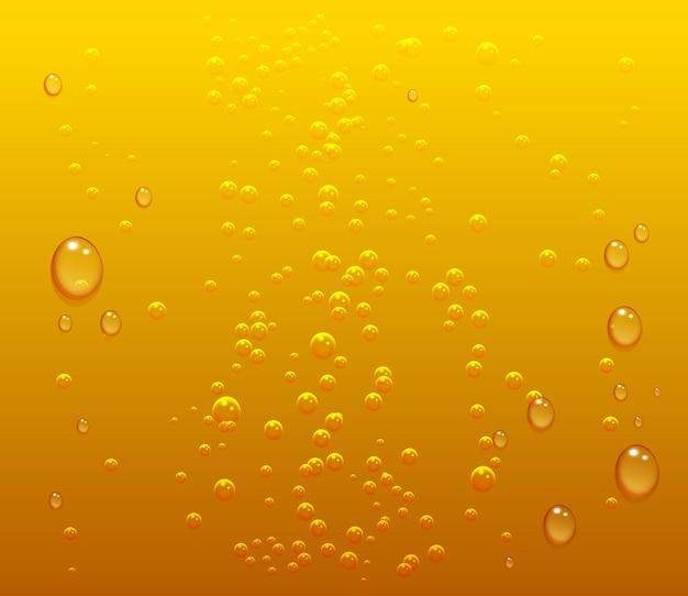 Donker bier druppels en belletjes achtergrond