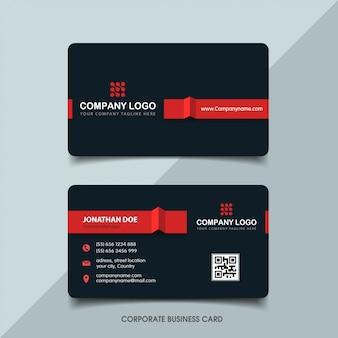 Donker en rood visitekaartje