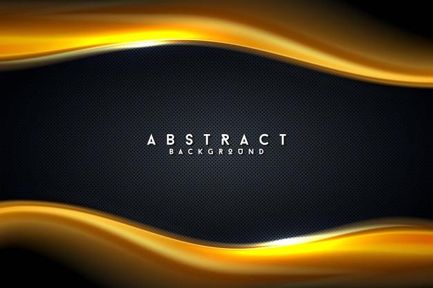 Donker gouden realistische moderne futuristische gestructureerde achtergrond