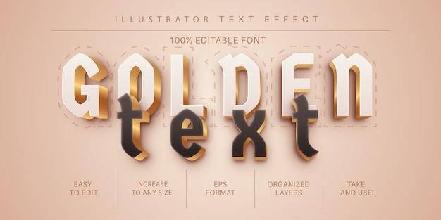 Donker gouden teksteffect