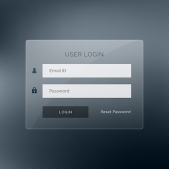Donker login ui design template