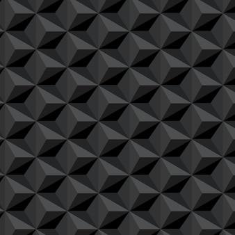 Donker naadloos patroon met zeshoekenachtergrond