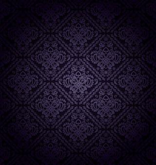 Donker paars bloemmotief vector