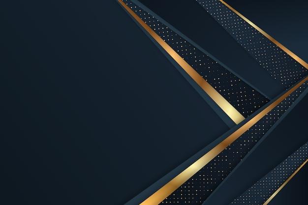 Donker papierlagen behang met gouden details