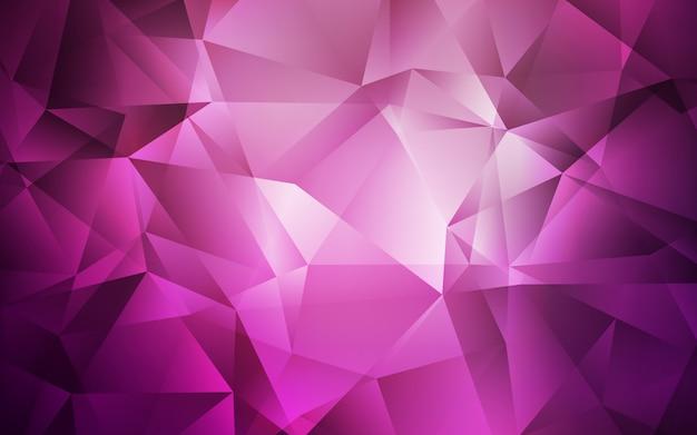 Donker roze glanzende driehoekige achtergrond.