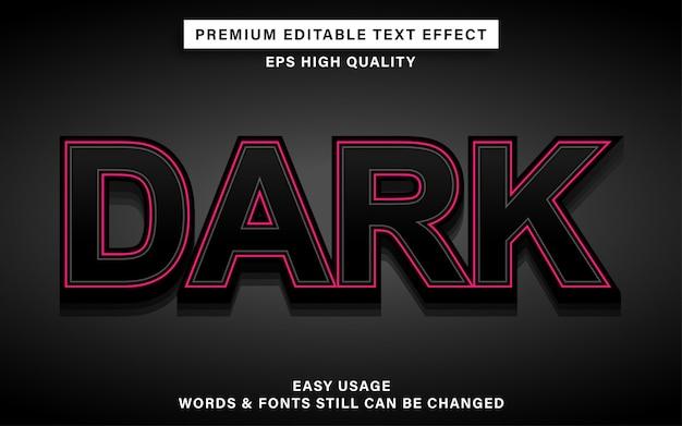 Donker teksteffect