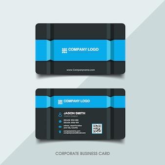 Donkerblauw visitekaartje