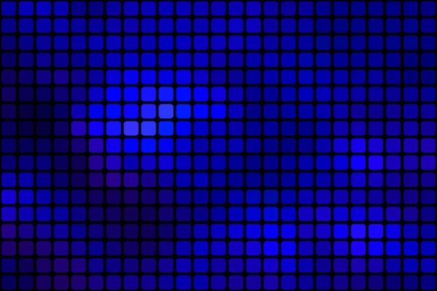 Donkerblauwe abstracte afgeronde mozaïekachtergrond over zwarte