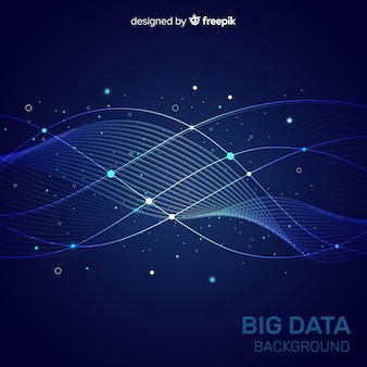 Donkerblauwe abstracte en creatieve big data-achtergrond