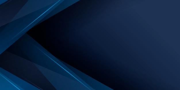 Donkerblauwe achtergrond met abstracte grafische elementen