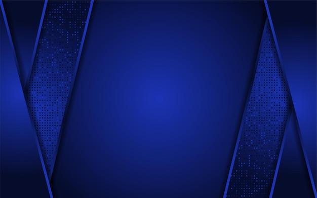 Donkerblauwe achtergrond met moderne abstracte vorm