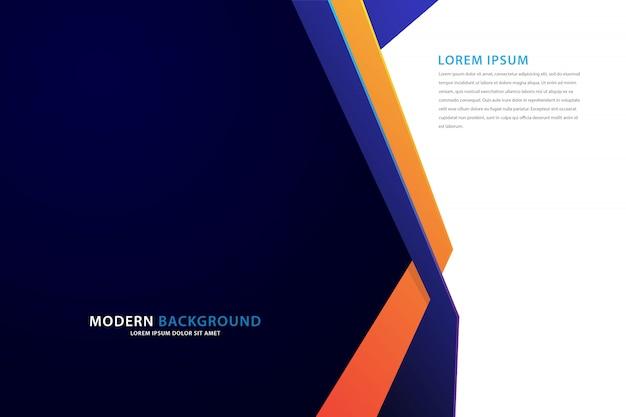 Donkerblauwe achtergrond met vouwlijnen