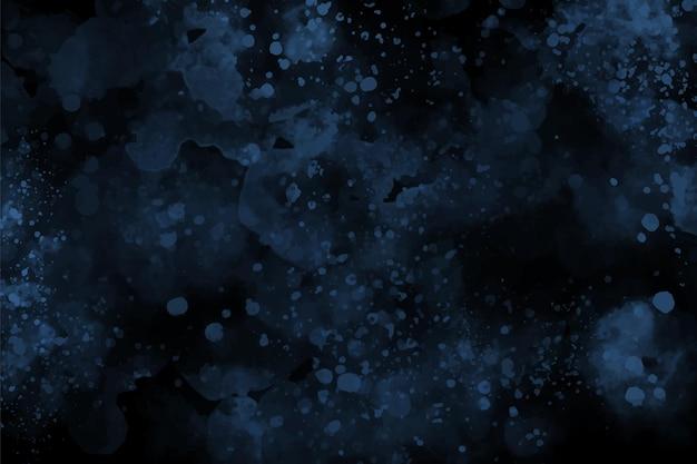 Donkerblauwe aquarel abstracte achtergrond