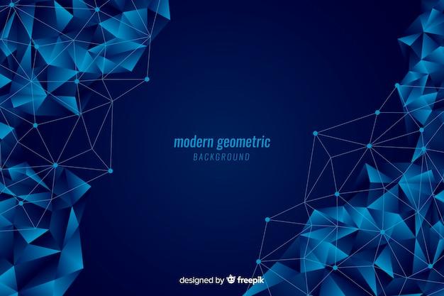 Donkerblauwe geometrische vormenachtergrond