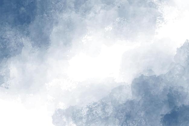 Donkerblauwe indigo aquarel splash achtergrond