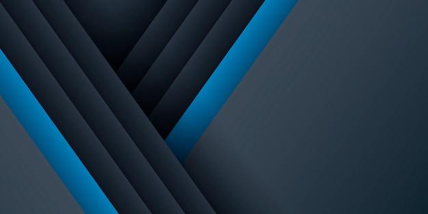 Donkerblauwe moderne presentatiepagina met halftoon