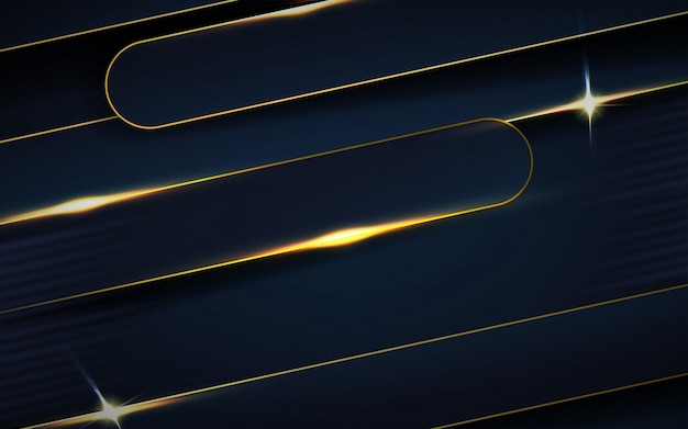 Donkerblauwe overlappingslagen met lijnenachtergrond