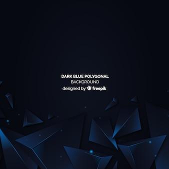 Donkerblauwe veelhoekige achtergrond