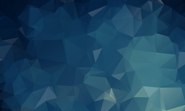 Donkerblauwe veelhoekige illustratie, die uit driehoeken bestaat. geometrische achtergrond in origamistijl met gradiënt. driehoekig ontwerp voor uw bedrijf.