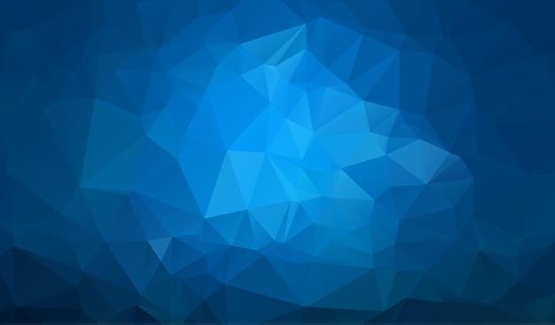 Donkerblauwe veelhoekige illustratie