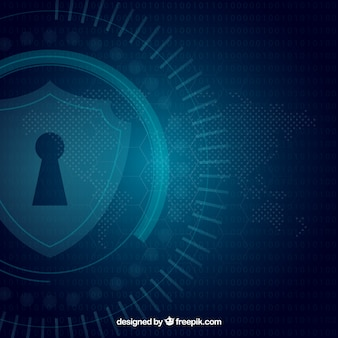 Donkerblauwe veiligheidsachtergrond