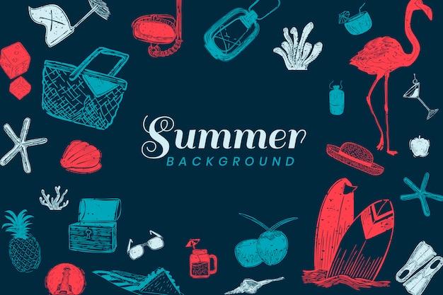 Donkerblauwe zomer achtergrond