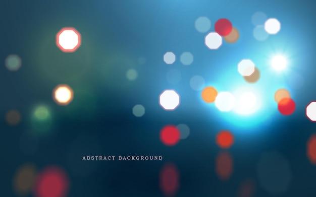 Donkere abstracte achtergrond in cyberpunkstijl verlicht door koplampen van auto's in de nachtstad