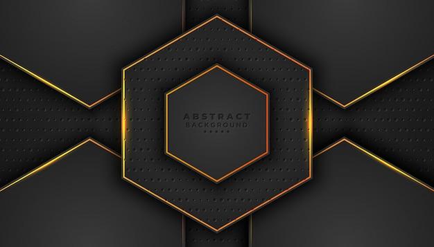 Donkere abstracte achtergrond met 3d-stijl.
