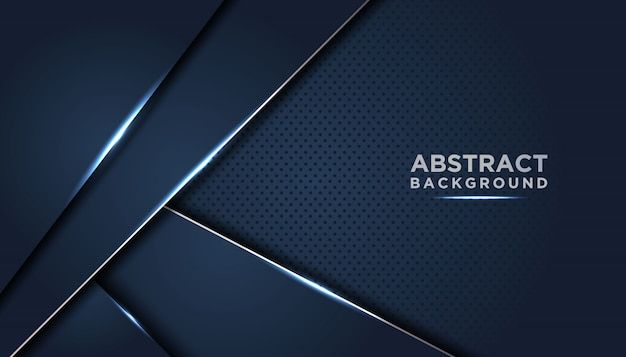 Donkere abstracte achtergrond met donkerblauwe overlappende lagen