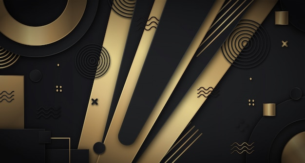 Donkere abstracte achtergrond met luxe gouden kleur
