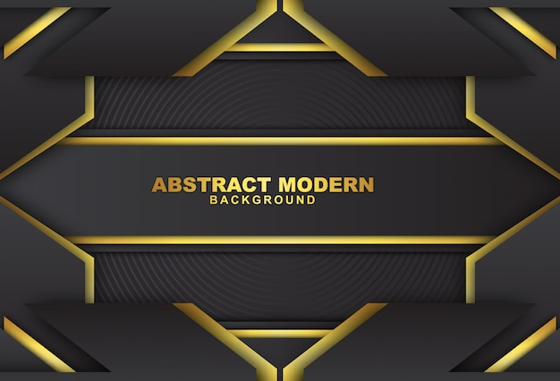 Donkere abstracte achtergrond met luxueuze gouden kleur