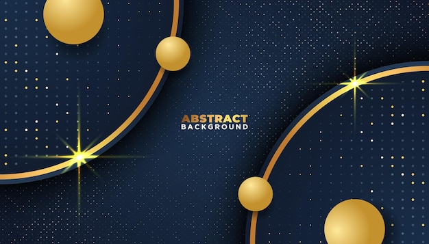 Donkere abstracte achtergrond met overlappende lagen gouden glitters stippen element decoratie luxe design concept