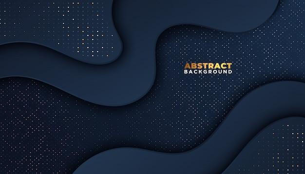Donkere abstracte achtergrond met overlappende lagen. luxe ontwerpconcept