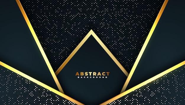 Donkere abstracte achtergrond met overlappende lagen.